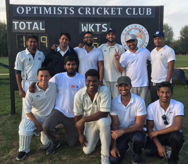University of Luxembourg Cricket team after first ever match!
