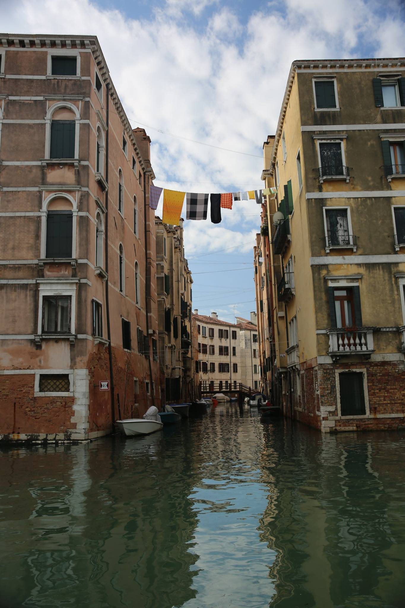 The simple things about Venice are still picture worthy, like this laundry hanging over the still canal