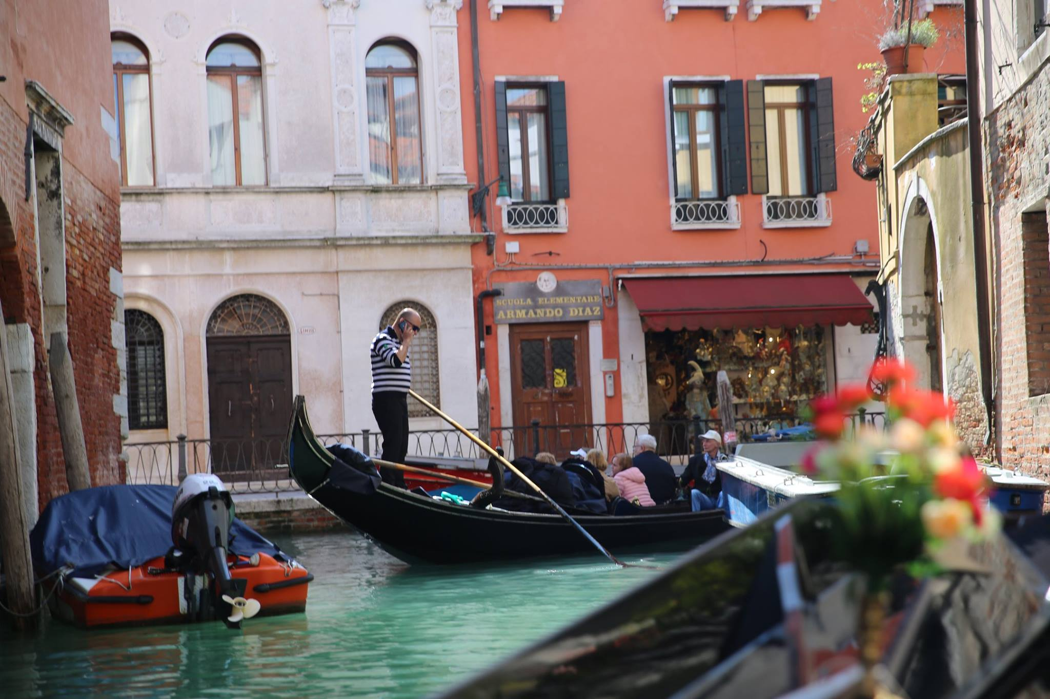 This was NOT our gondola experience. Our gondalier was present, singing, laughing, smiling, taught us the traditional calls when he went around corners, and we saw the quiet canals where we were often the only gondola around. It was perfect.
