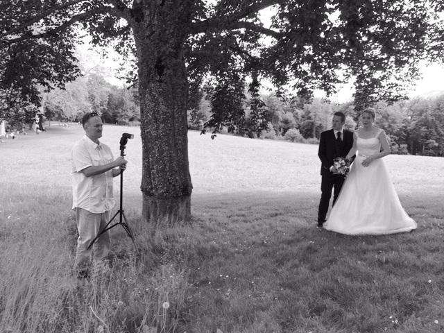 Behind the Scene am Hochzeits-Workshop PHOTO MÜNSINGEN mit Seminarleiter Felix Peter Foto: Karin von Känel