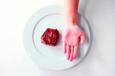 Portion of protein dense food (palm)