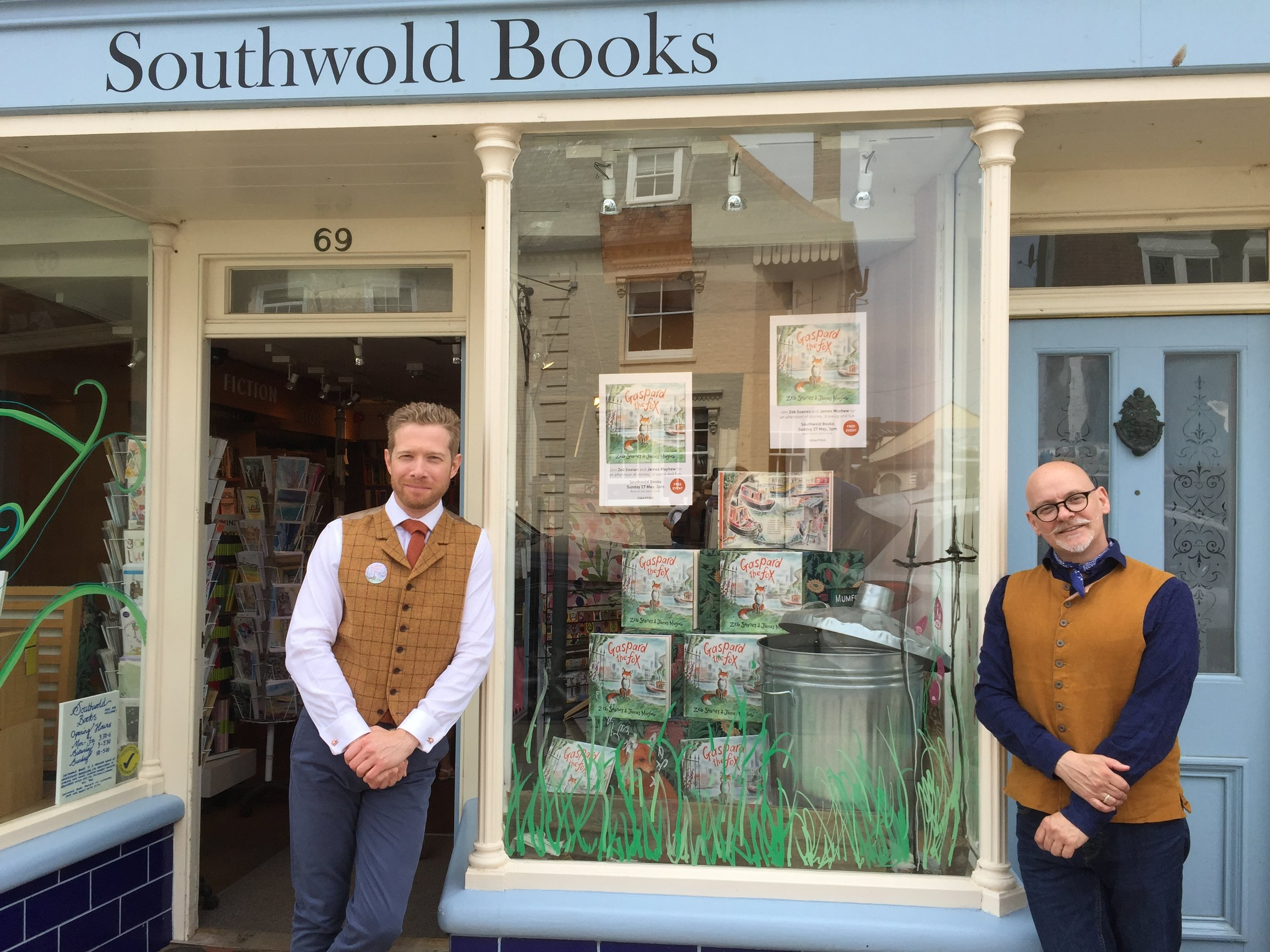 Zeb and James at Southwold Books in 2018