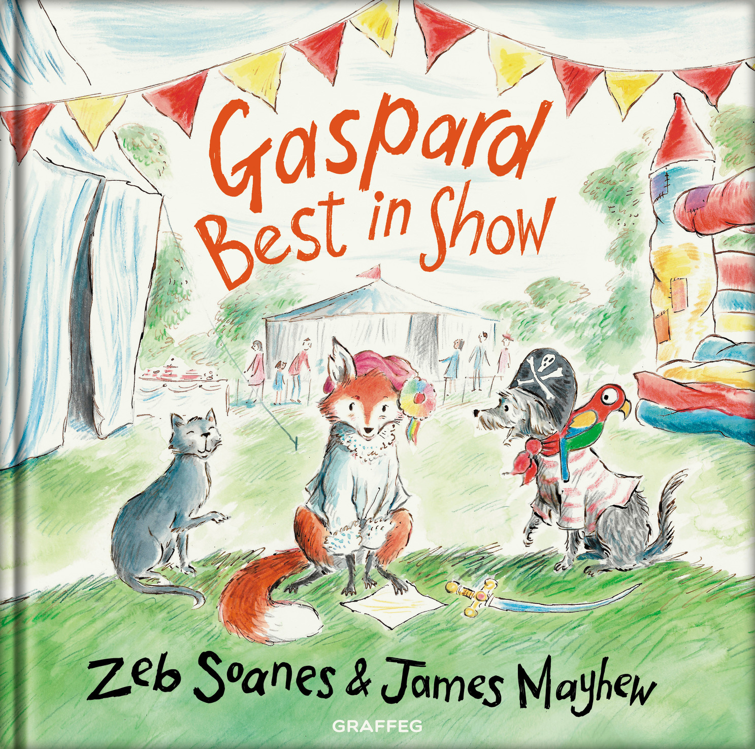 HARDBACK BOOK - Published August 22 - Gaspard and Peter set out on a new adventure and find Finty at the local summer fete. When Gaspard unwittingly gets entered into the fancy-dress dog show, chaos and hilarity ensue in this fun-packed sequel to Gaspard the Fox.