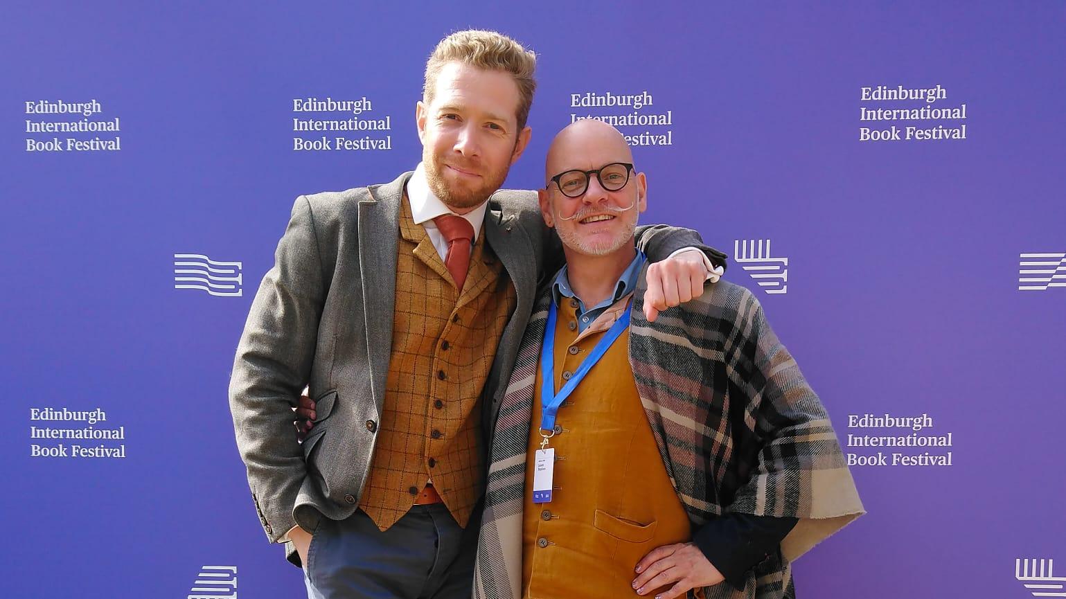 Zeb and James at Edinburgh, 2018