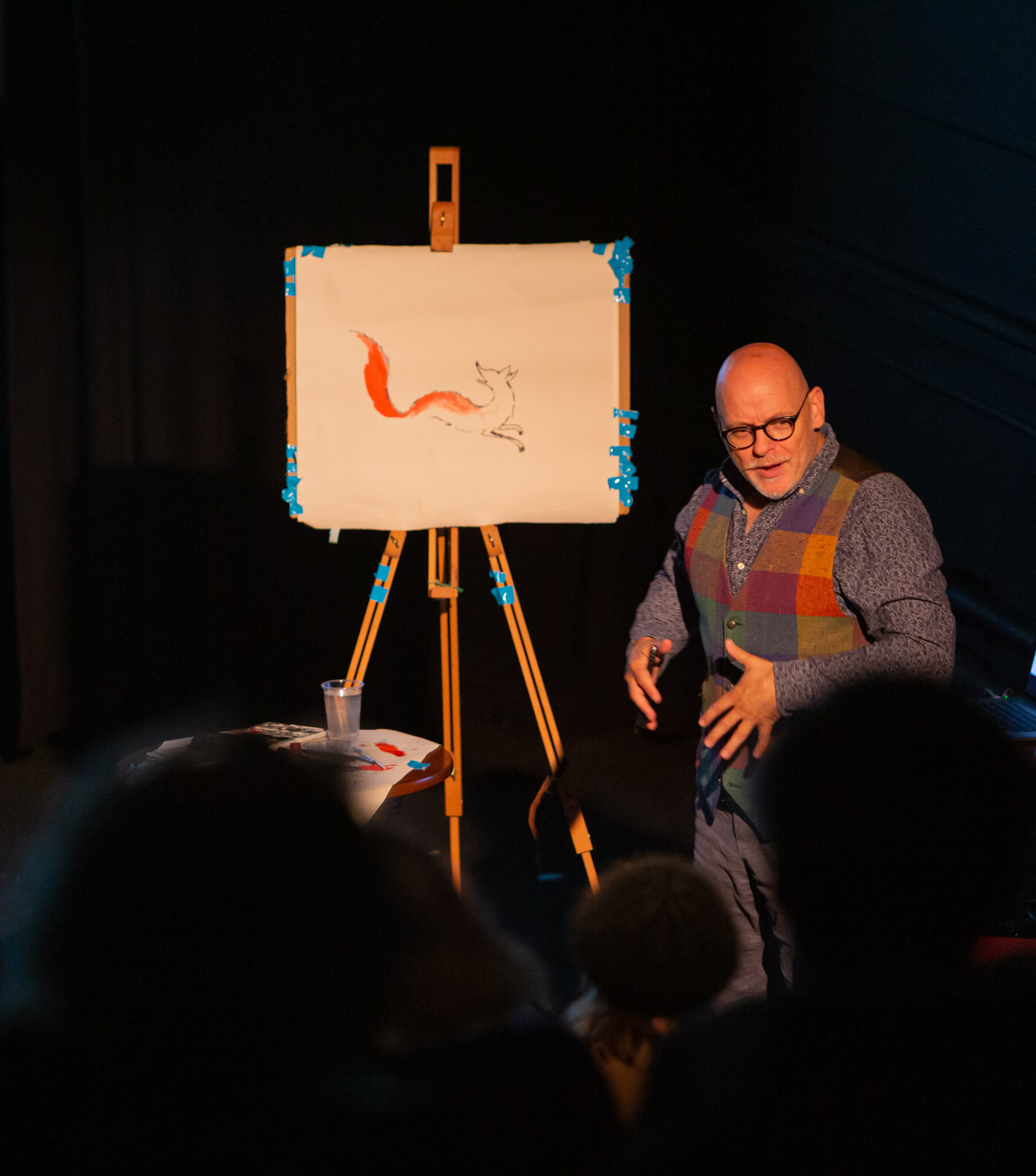 James Mayhew teaching how to draw Gaspard
