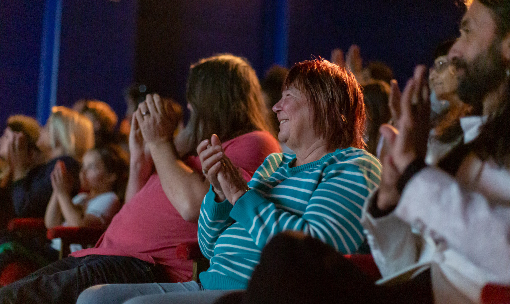 Audience at the Seagull Theatre, Lowestoft