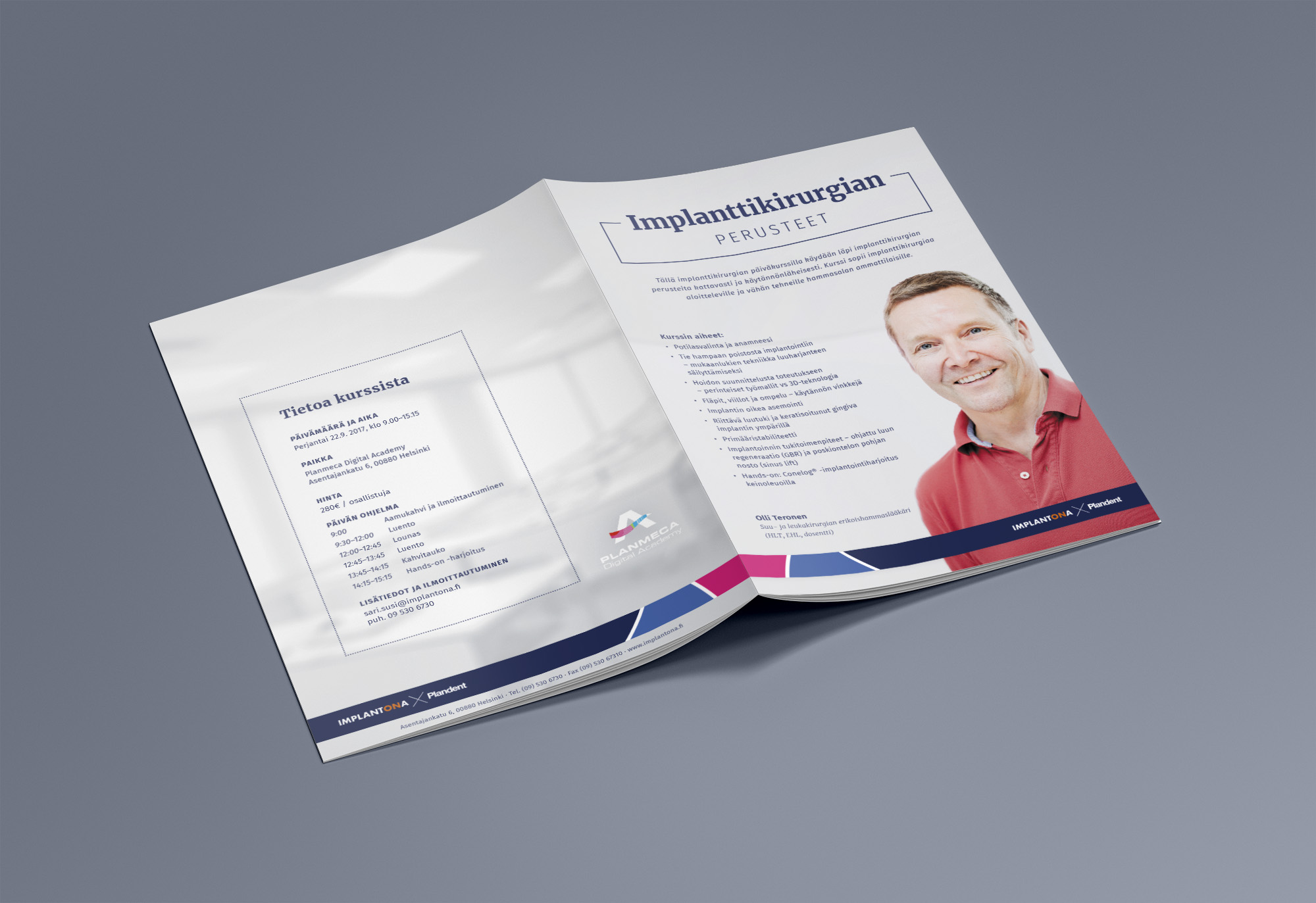 A brochure for the course  The essentials of implant surgery