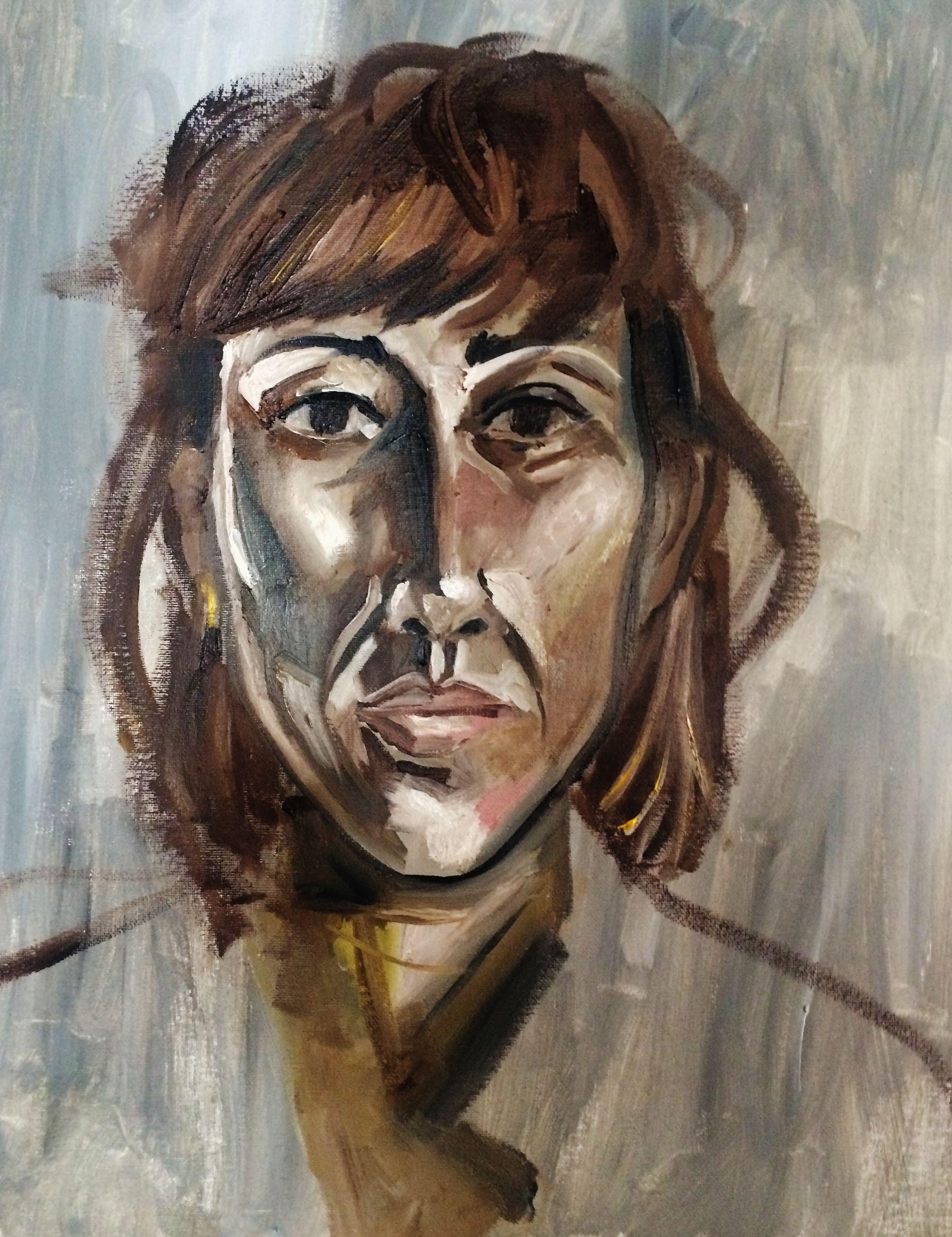 """Flavia"" oil on canvas -"