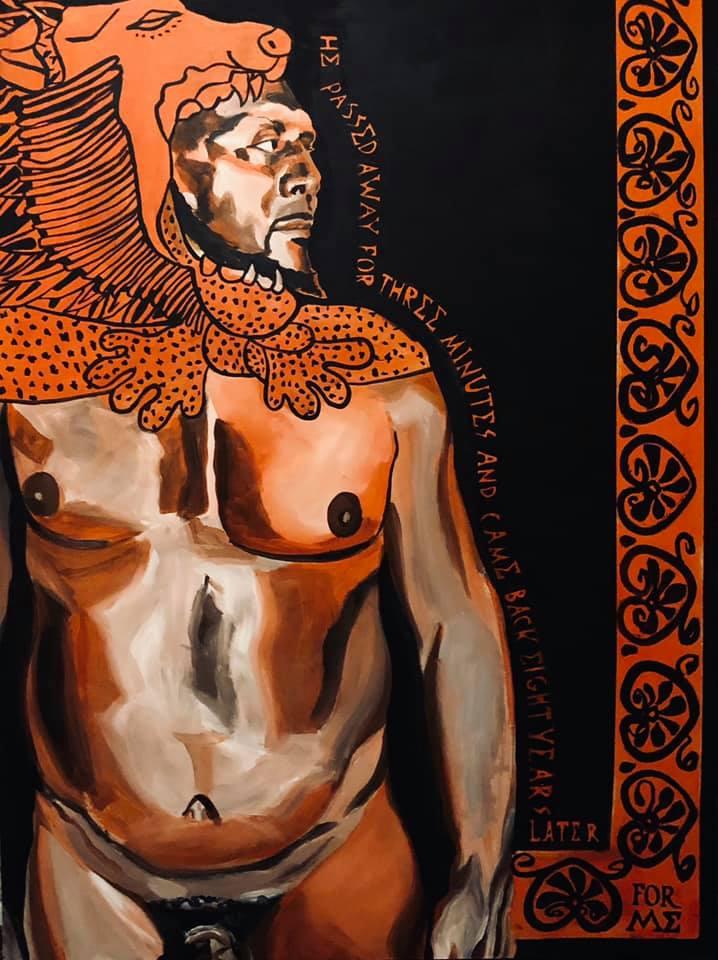 Chris in Hercules Lion Skin.