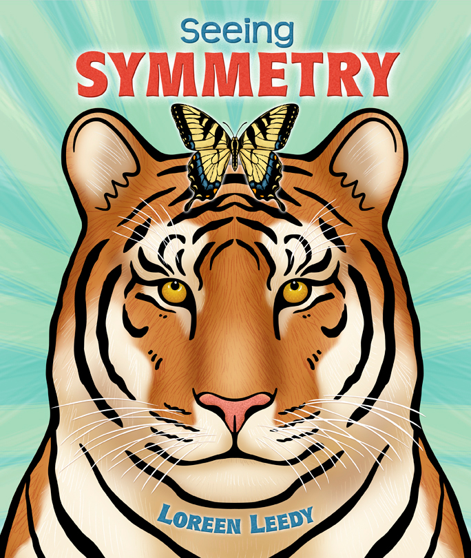 Click the tiger image to download FREE printable pages to use with  Seeing SYMMETRY!