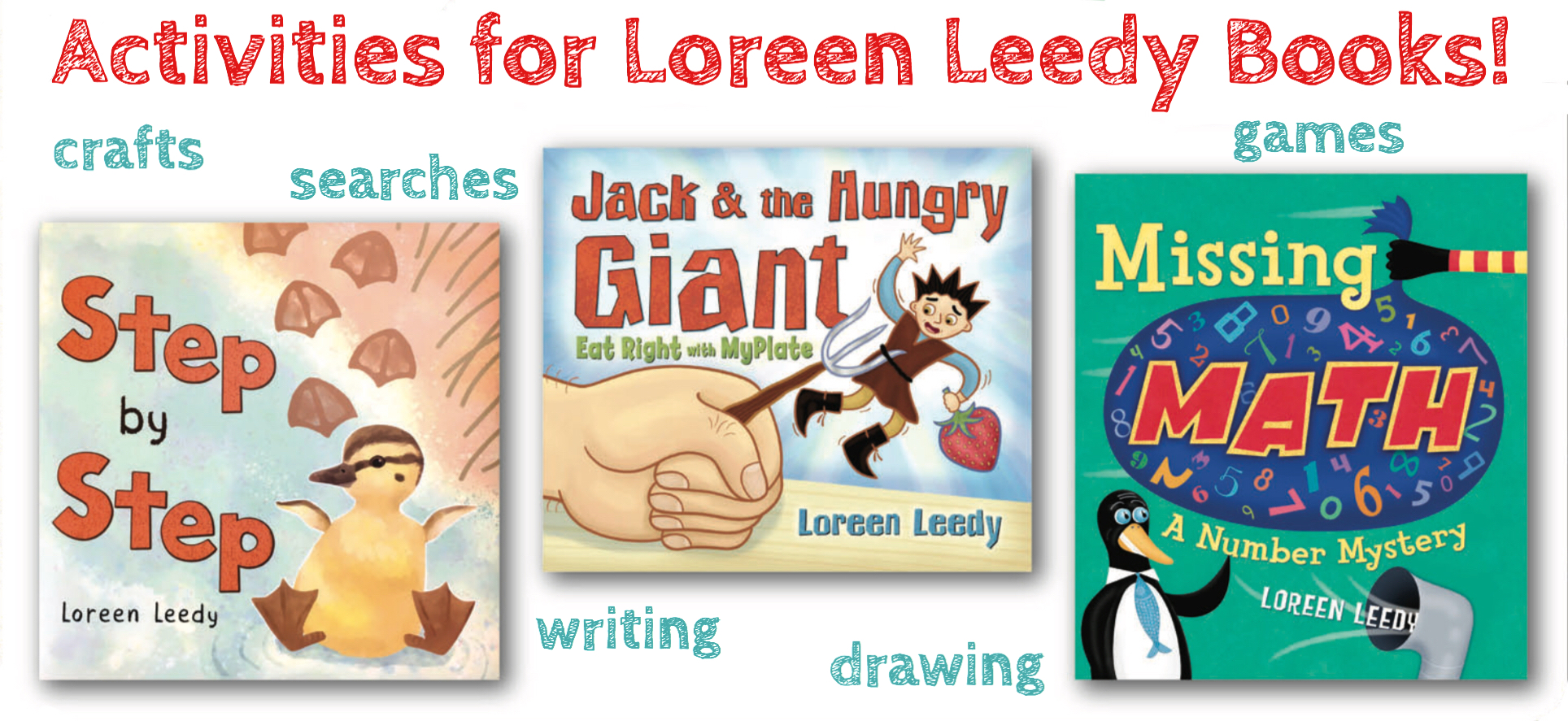 Free printable activities and ideas for using Loreen Leedy books in the classroom.