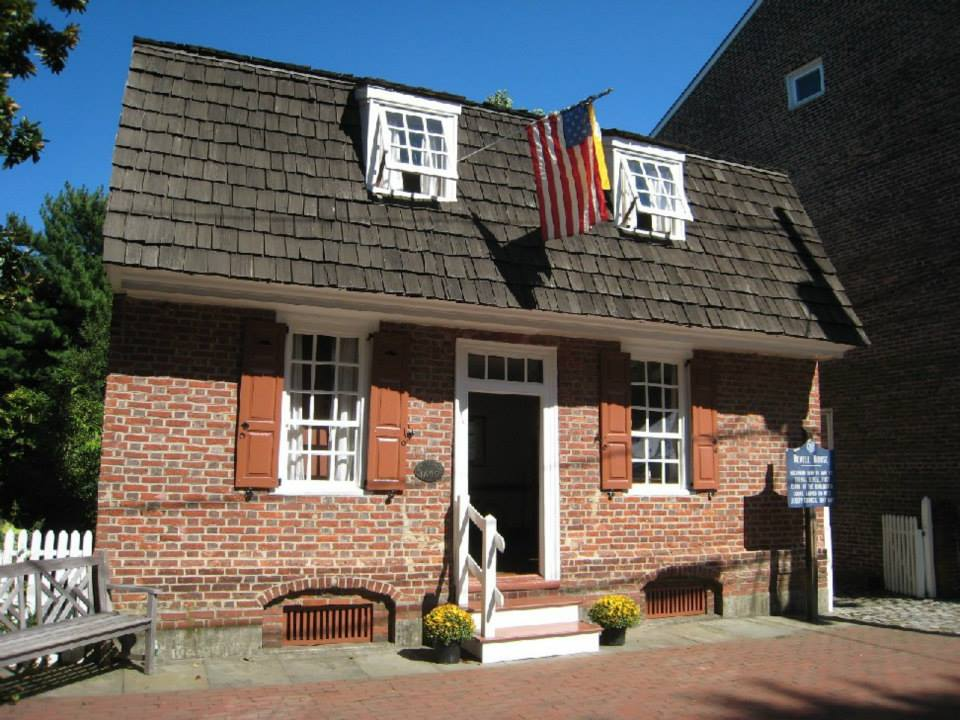 The Revell House - The oldest building in Burlington County, the one-room Revell House was built near the waterfront in 1685 by George Hutchinson, a Quaker distiller.
