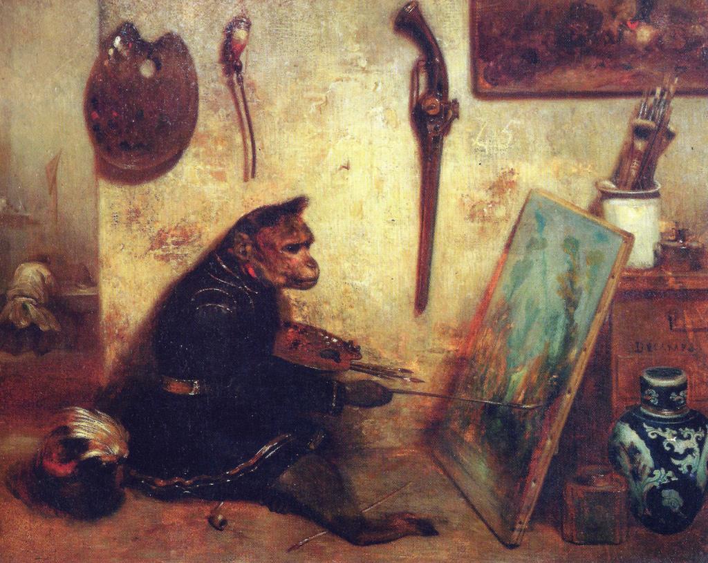 Alexandre-Gabriel Decamps - The Monkey Painter_1833_Louvre Museum.jpg
