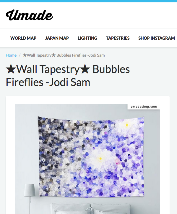 Various  bubbles  Wall Tapestry from Umade (English - International)