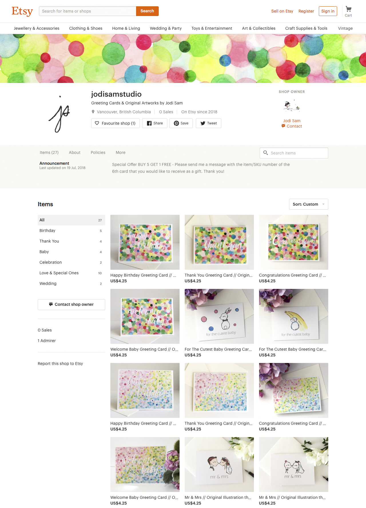 jodisamstudio  on Etsy
