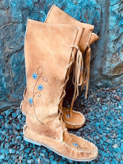 Knee High - Traditionally Tanned-Beaded