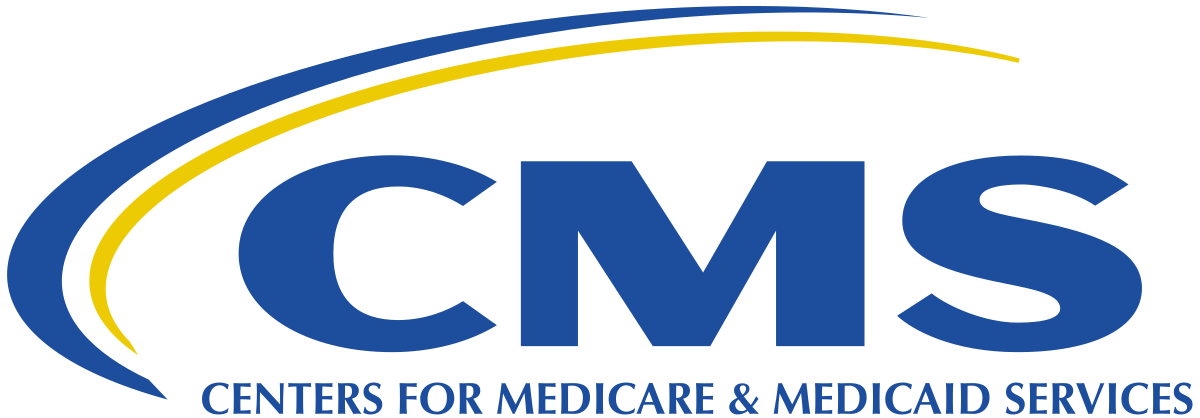 Logo for the government body that oversees Medicare and Medicaid programs