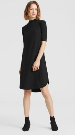 Viscose Jersey Drape Neck Dress 1.JPG