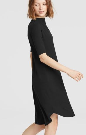 Viscose Jersey Drape Neck Dress 3.JPG