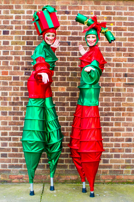 The Christmas Stilt Walkers at Wall.jpg