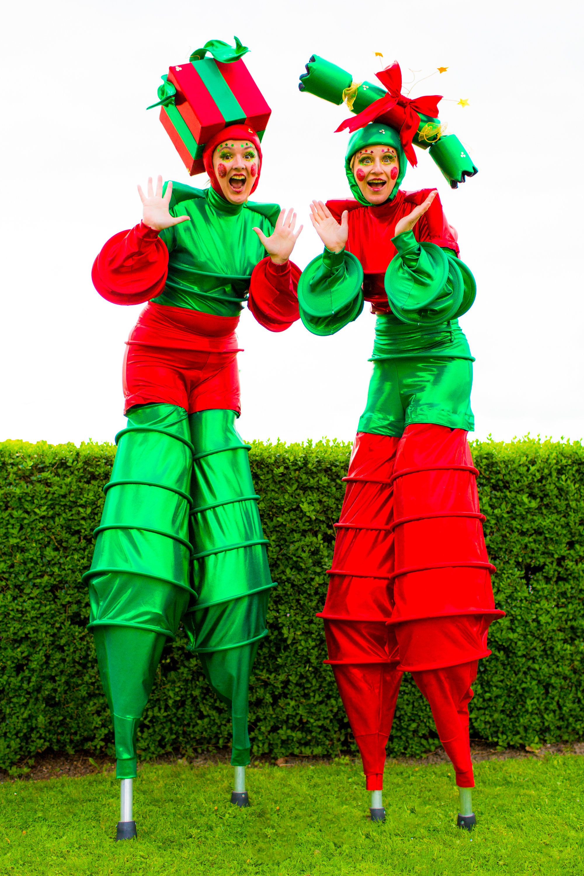 The Christmas Stilt Walkers