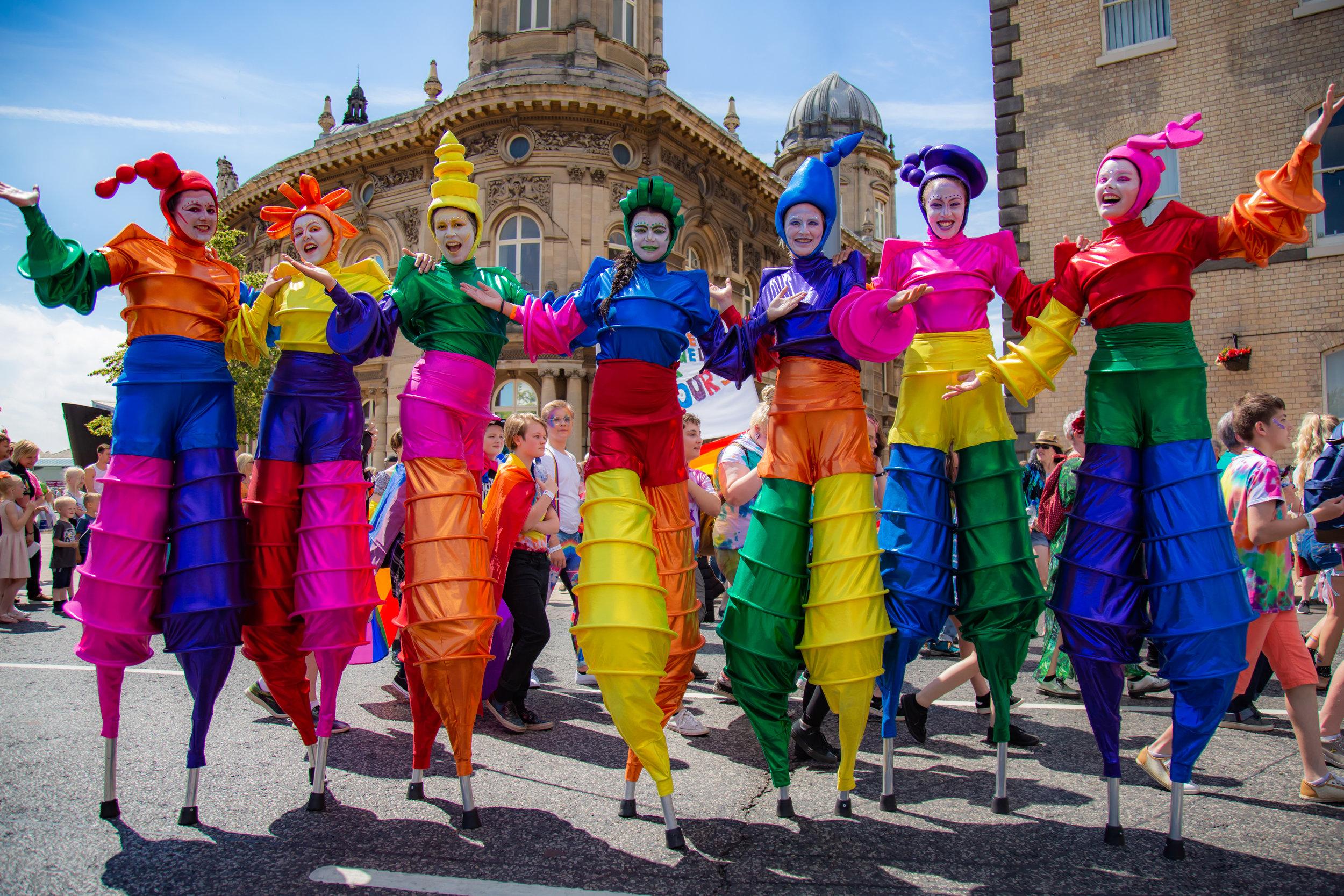The Carnival Stilt Dancers