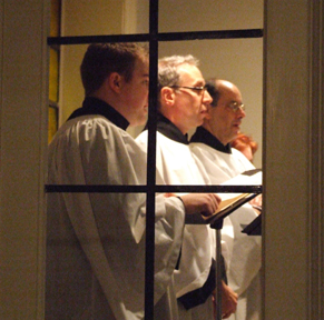 Music - Fine liturgical music has been a long tradition at Corpus Christi. The music program includes Gregorian chant, Renaissance polyphony, baroque and early classical choral music, and contemporary works (some commissioned especially for us). Our choir is made up of dedicated professional singers–we've even made three CDs of them. There's also the concert series Music Before 1800 here at Corpus Christi.