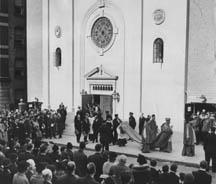 Cardinal Hayes at the dedication, Oct. 25, 1936
