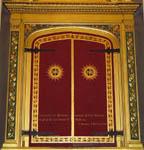 Main altarpiece closed