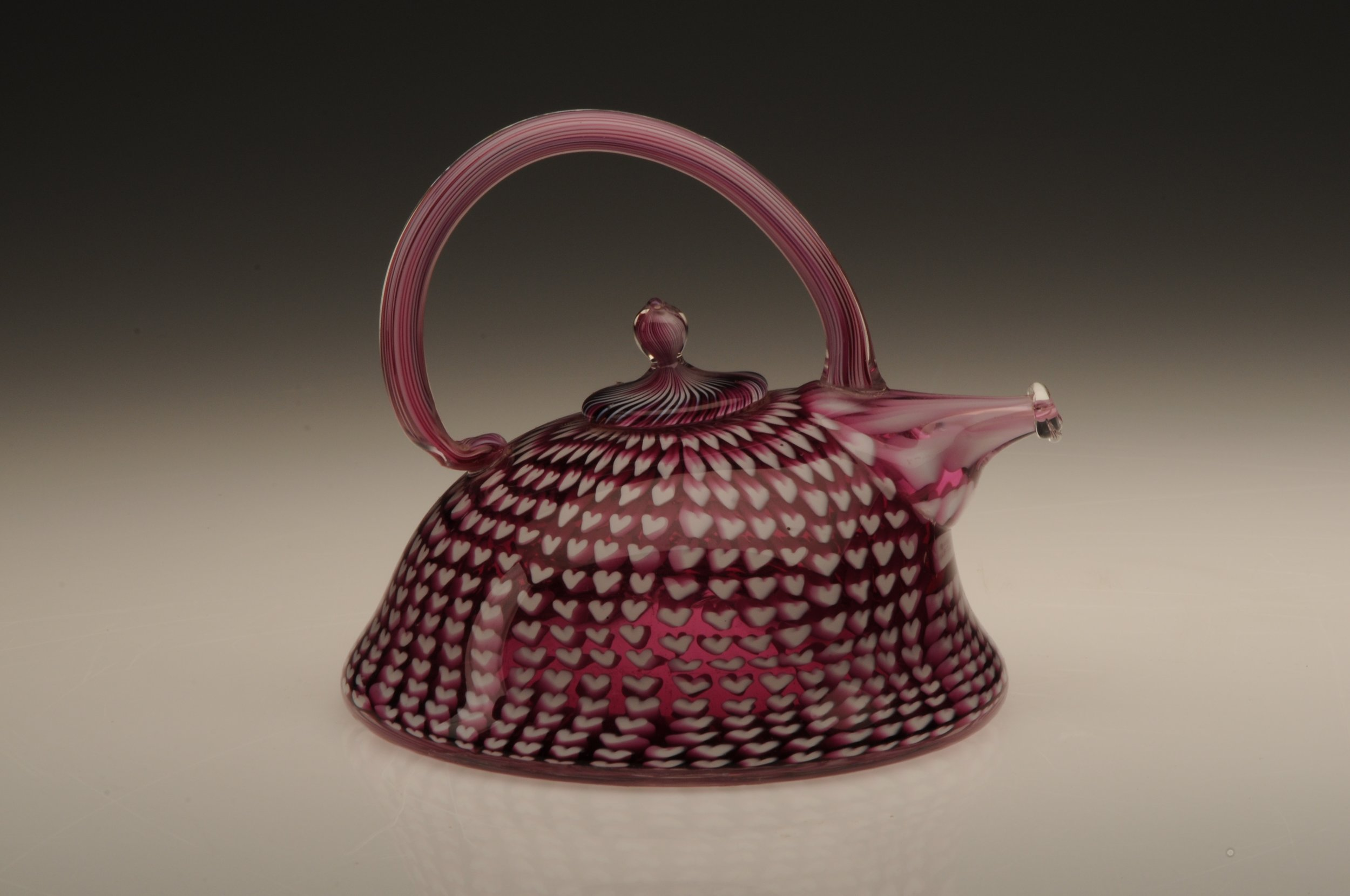 Ruby Heart Teapot