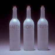 Poet's Bottles: Faith, Hope, Truth