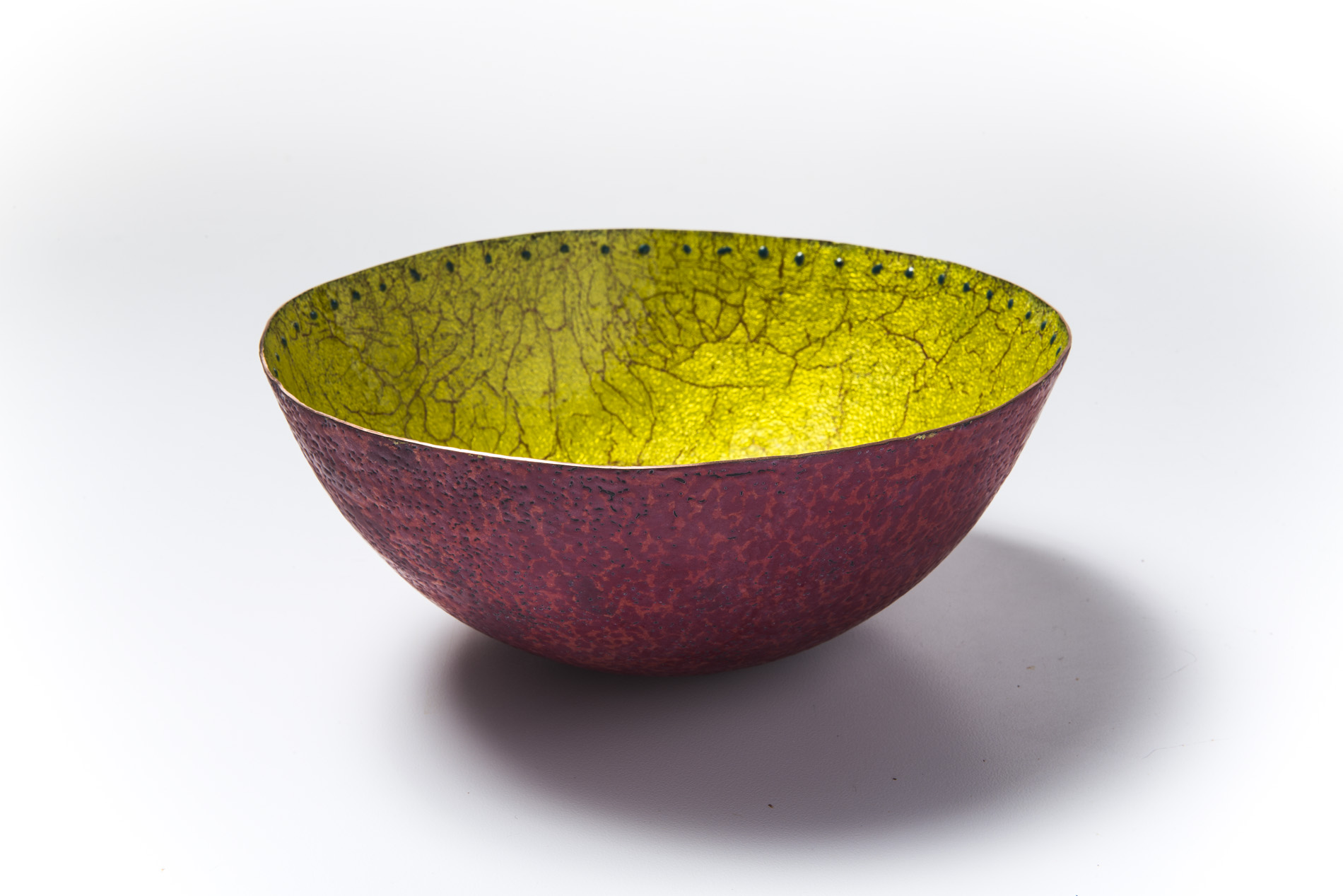 Yellow Crackle Bowl
