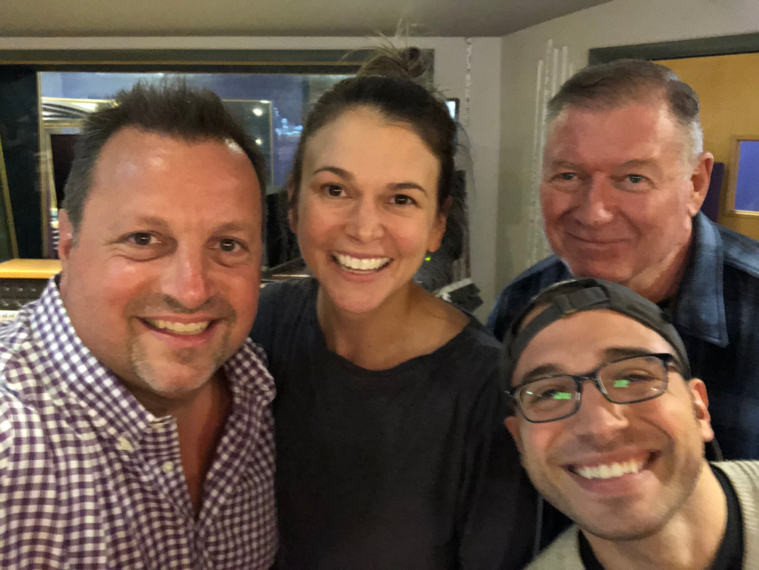 with Sutton Foster who sings on  Send in the Clowns/Somewhere  with Music Supervisor Michael Rafter and duet vocal arranger Santino DeAngelo