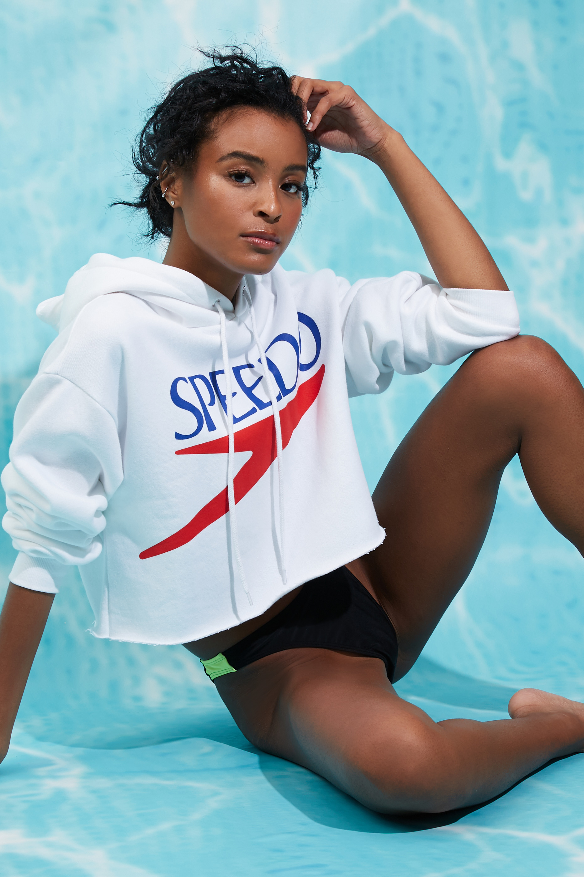 Speedo Cropped Graphic Hoodie - $27.50