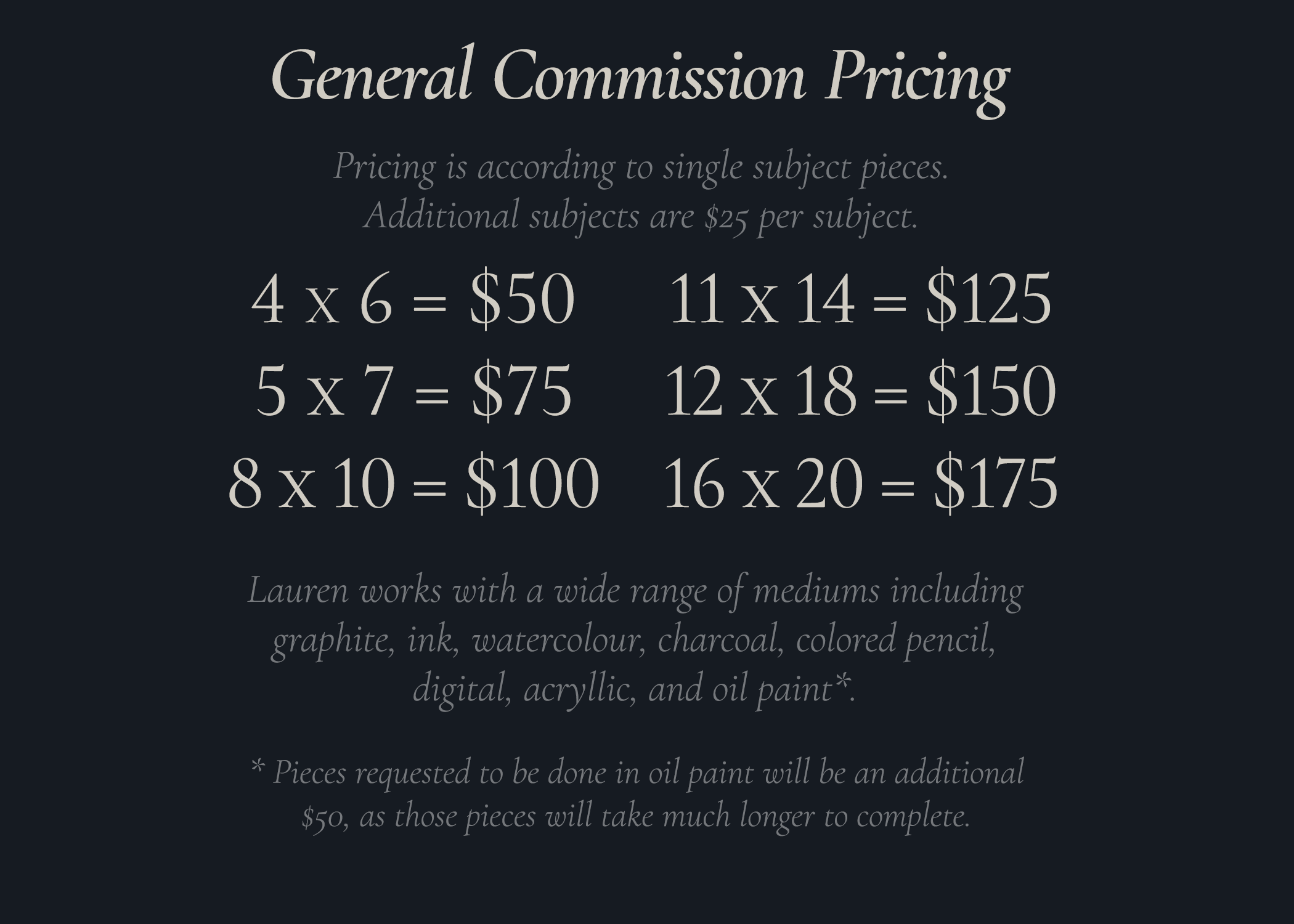 Commissions are *OPEN*