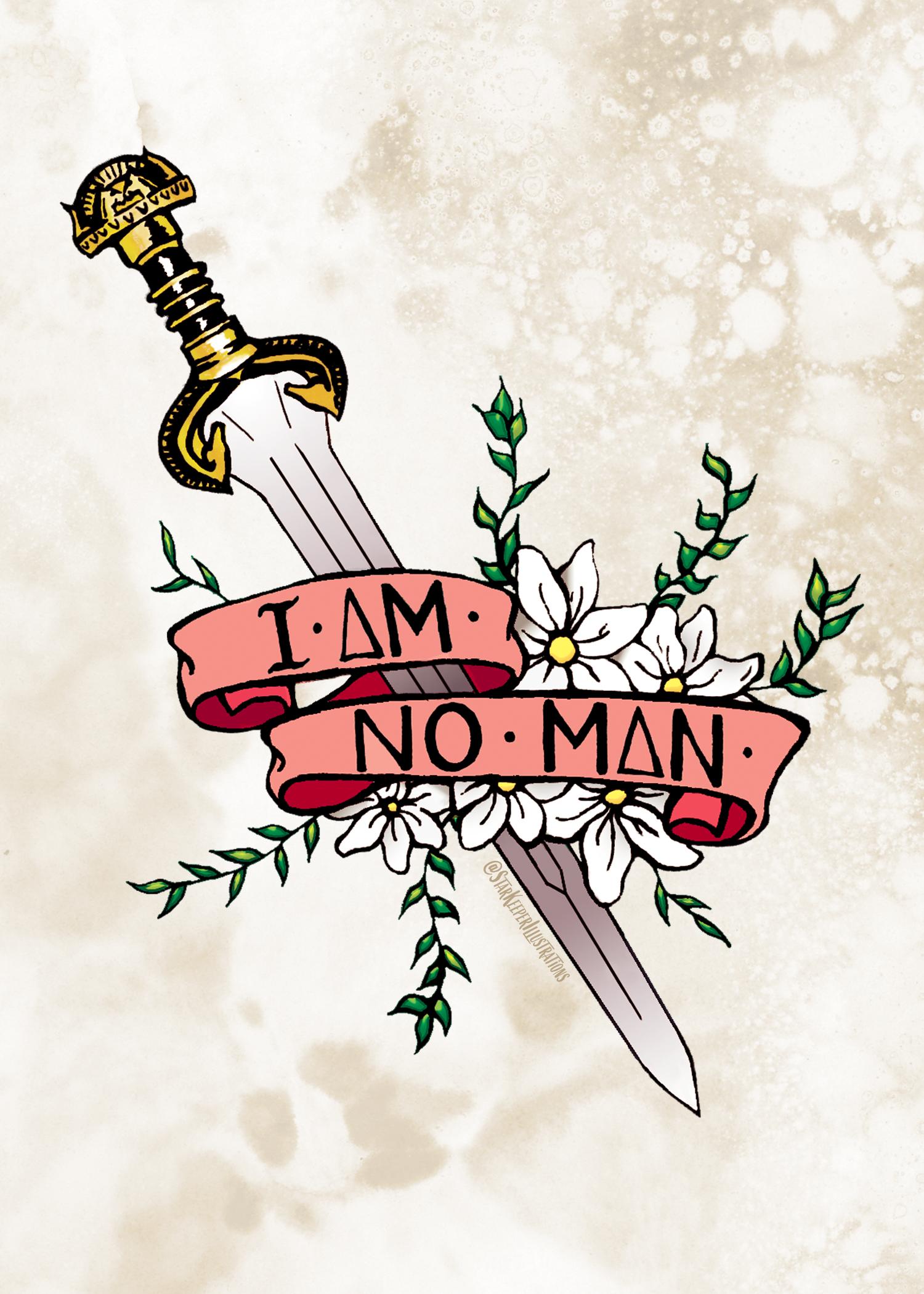 I Am No Man Print