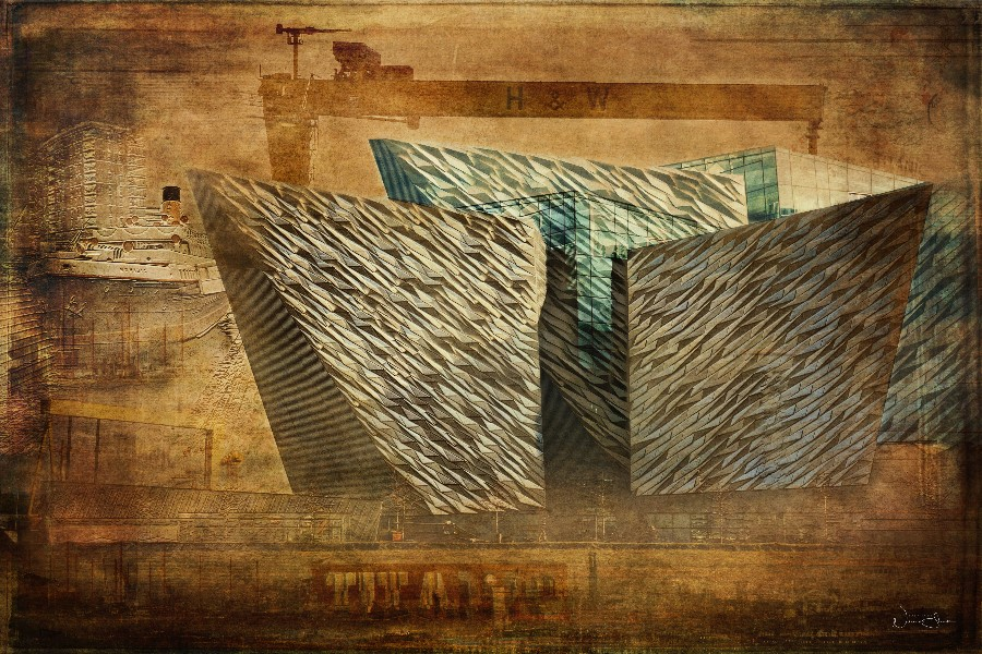 Rise Up, Titanic Quarter, Samson and Goliath cranes, Belfast