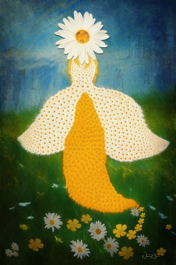 Look At Me, Daisy Buttercup Flower Dress, Poetry Book