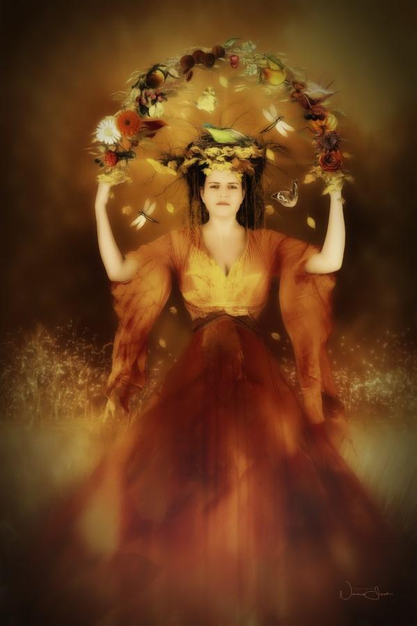 Abundance, Autumn Flower Dress