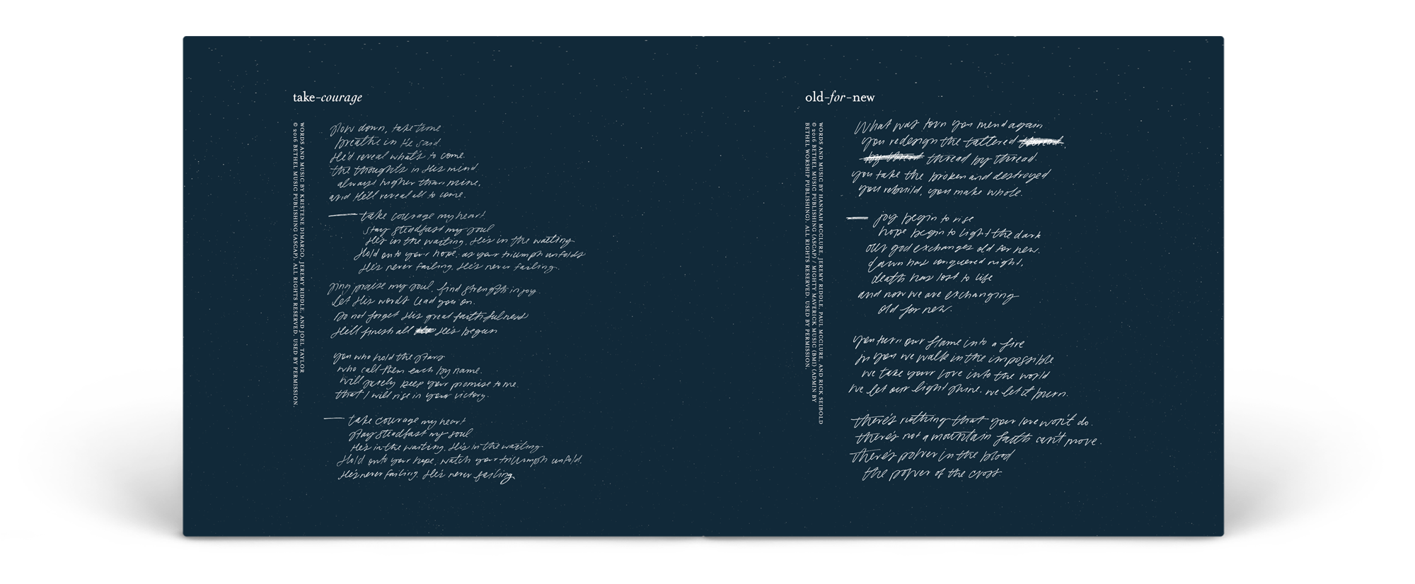 "An example spread from inside the booklet for ""Starlight"""