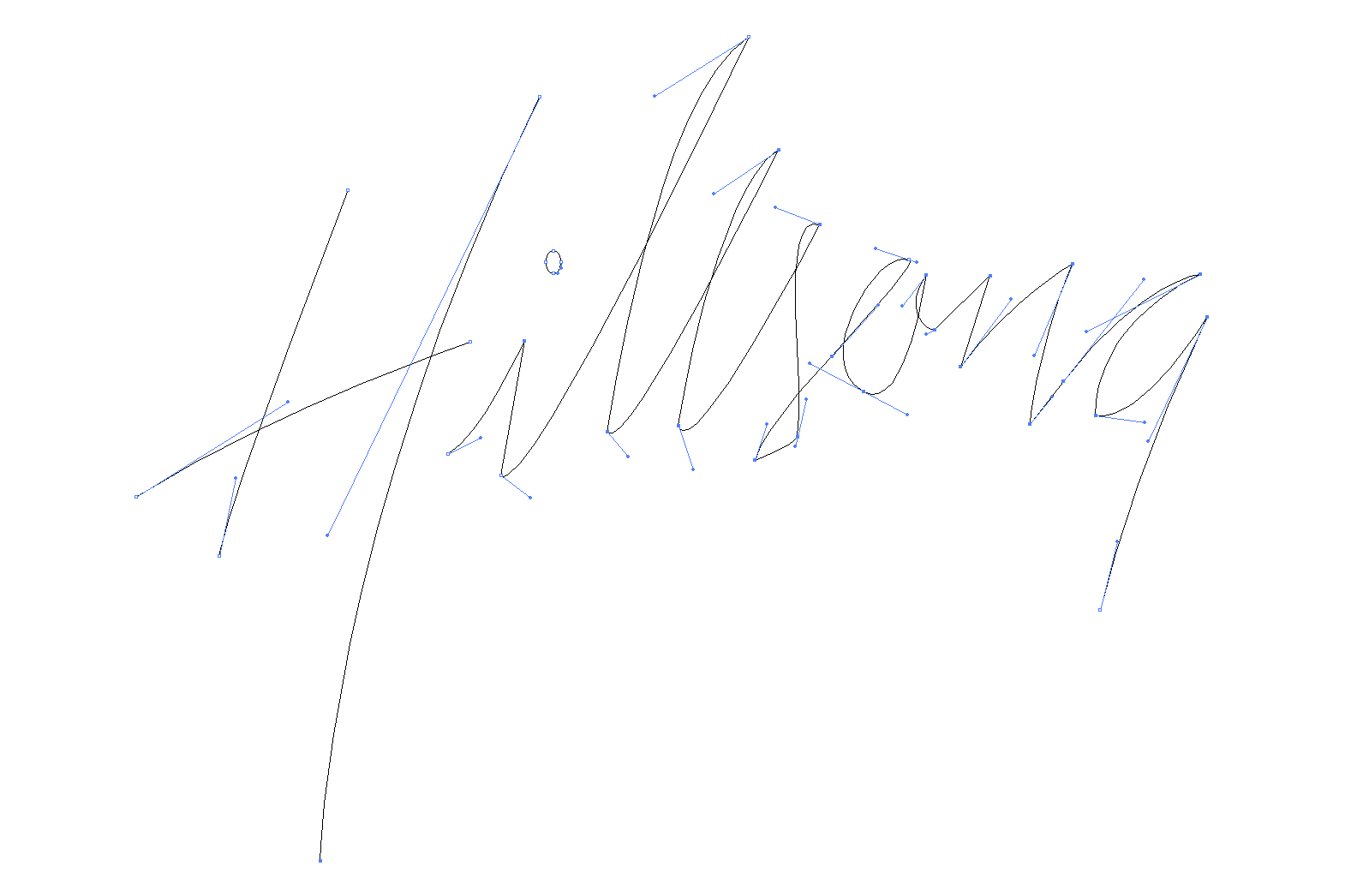 Original points and paths in FreeHand - traced by Chris