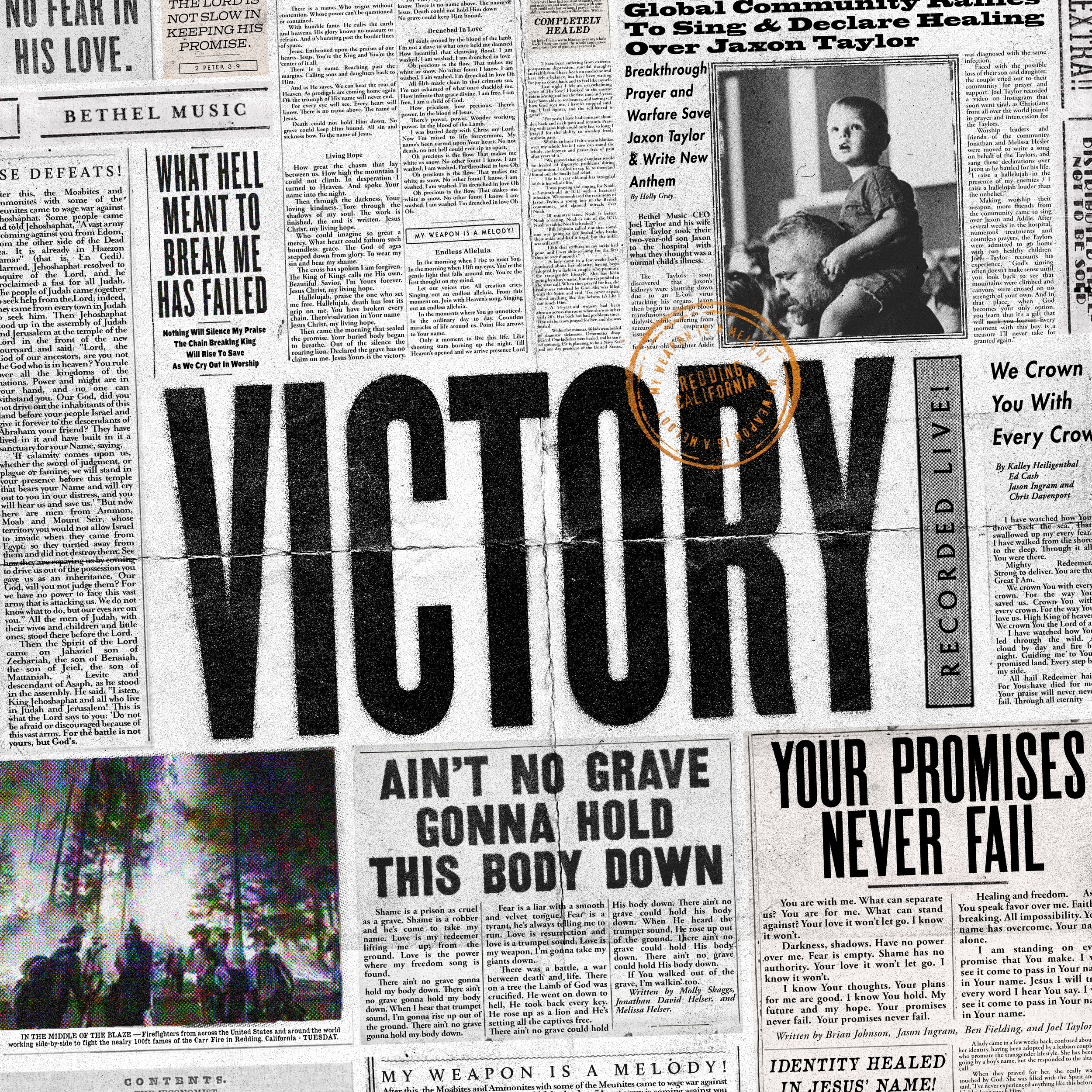 """Full-res """"VICTORY"""" album cover — zoom to read the stories!"""