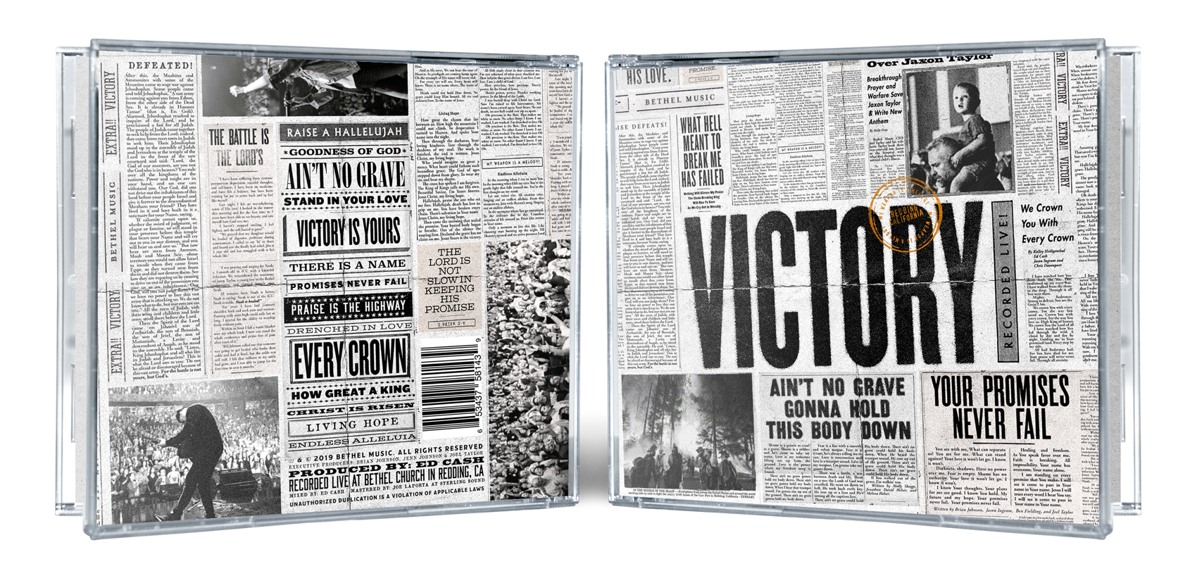 """Jewel Case (back and front cover) for the """"VICTORY"""" album artwork"""
