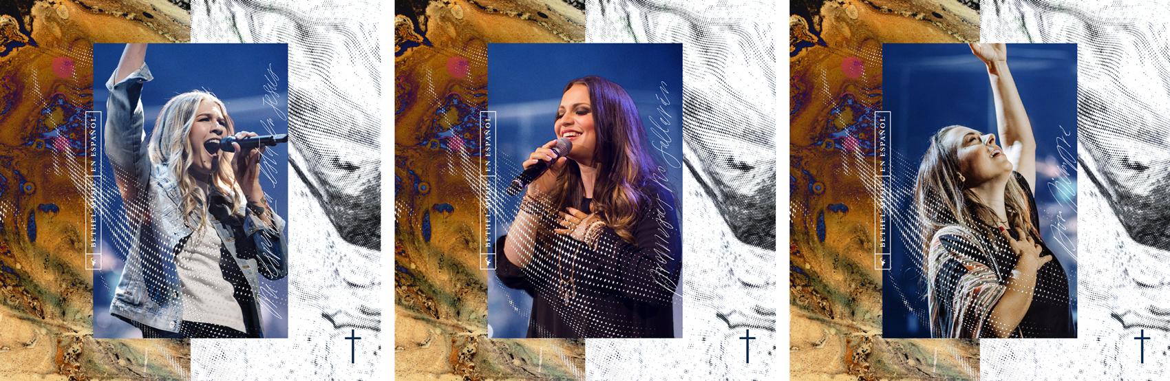 """Cover artwork for the 3 singles, """"Mi Esperanza Esta En Jesus"""", """"Promesas No Fallarán"""" and """"Por Siempre"""""""