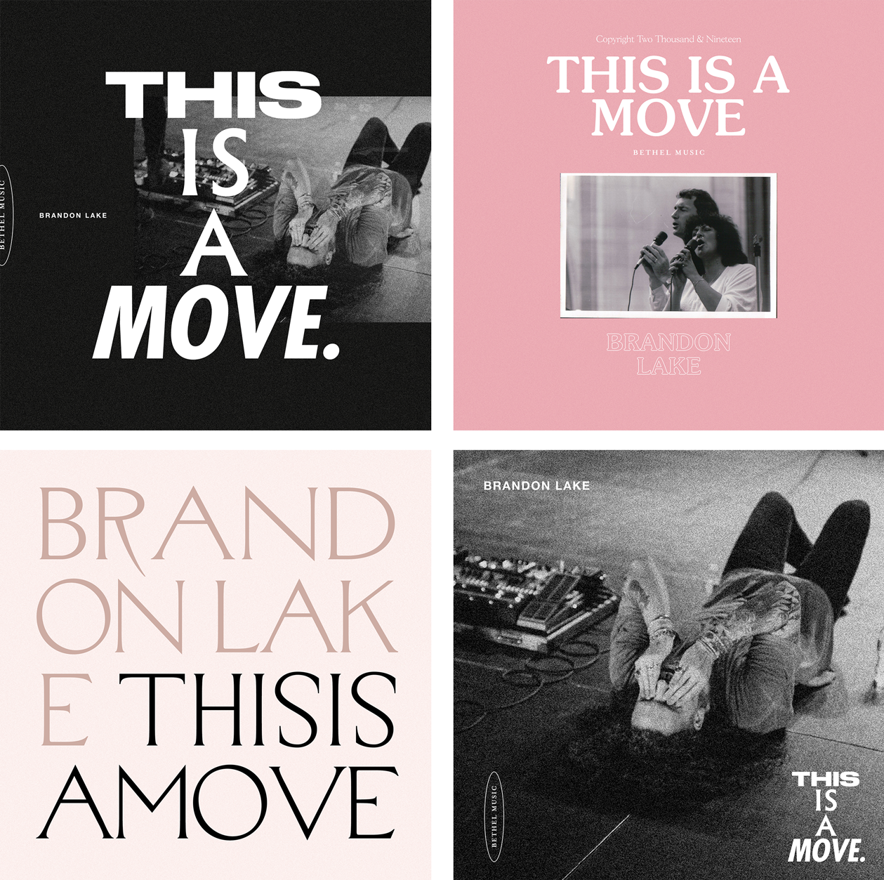 """A selection of the concept artwork for our """"This Is A Move"""" art direction"""