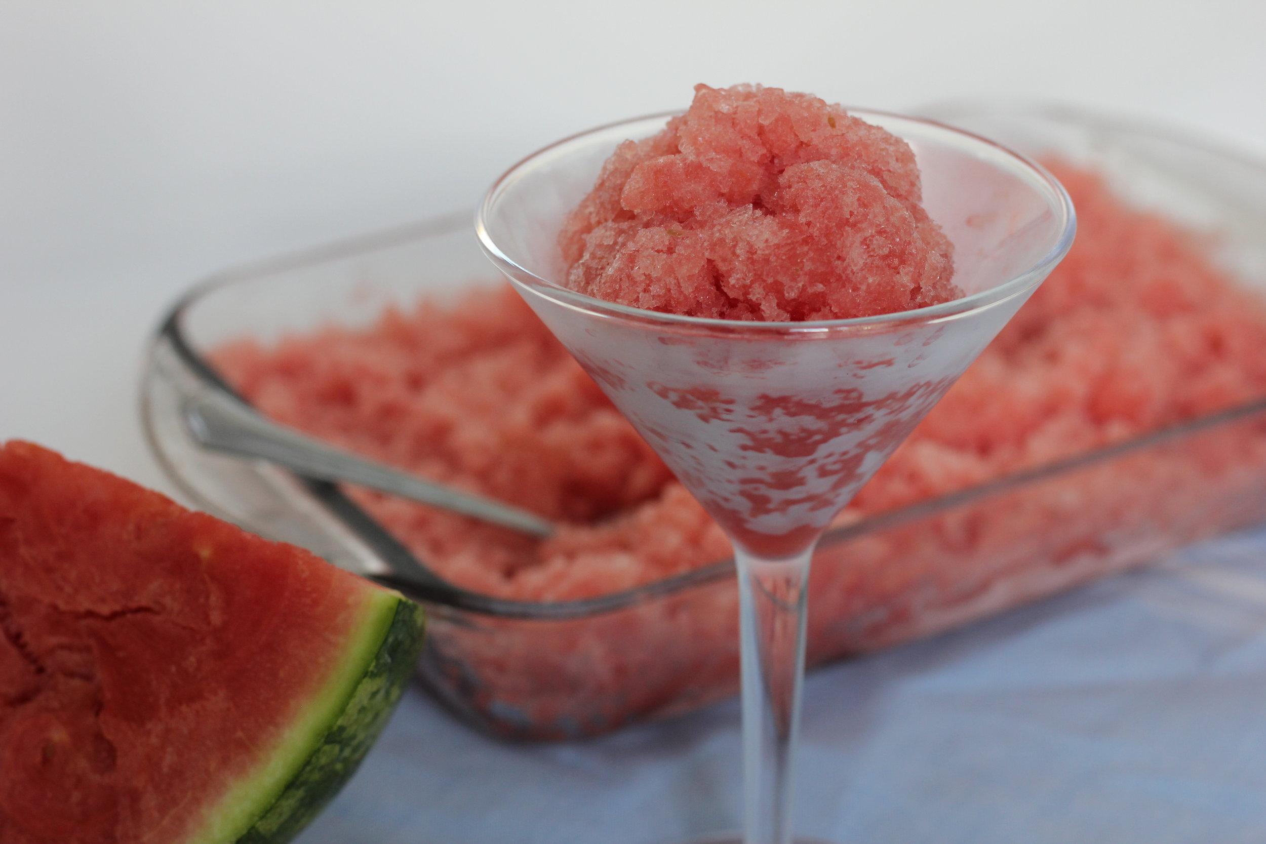Watermelon Granita by Kerry Fannon, Registered Dietitian in Fort Lauderdale