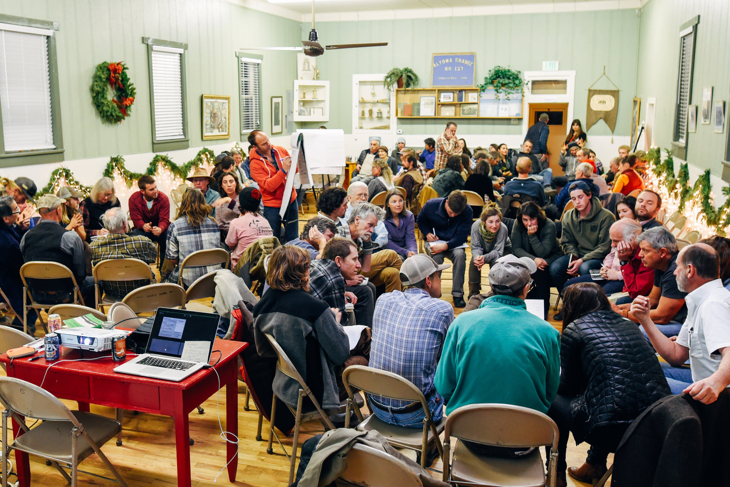Farm Forum #3 - The Altona Grange is currently the home of the Mad Ag Farm Forums, held monthly.