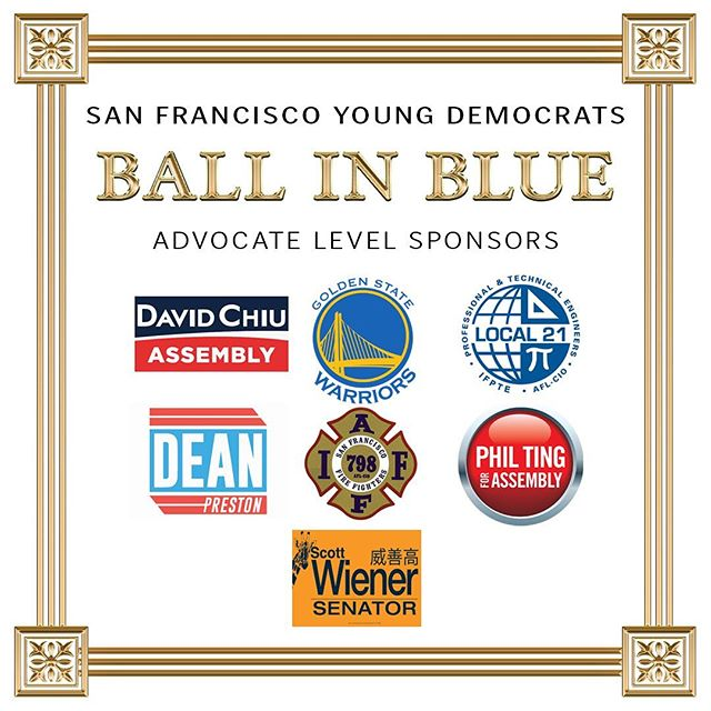 Thank you to our Ball in Blue Advocate Level Sponsors!Join us this Friday for our largest event of the year! You'll have a chance at winning two suite level Warriors tickets for December 9th vs. Memphis at the new Chase Center! #davidchiu.sf #DubNation #ifpte21 #deanprestond5 #sffirefighterslocal798 #philting #scott_wiener #sfbib2019