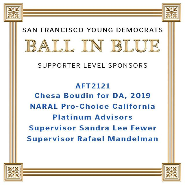 And Finally, Thank you to our 13th Annual Ball in Blue Supporter Level Sponsors! We can't wait to see you all tonight! As a reminder, this event is open to all ages. If you plan on drinking, please bring your ID and remember to drink responsibly! #sfbib2019