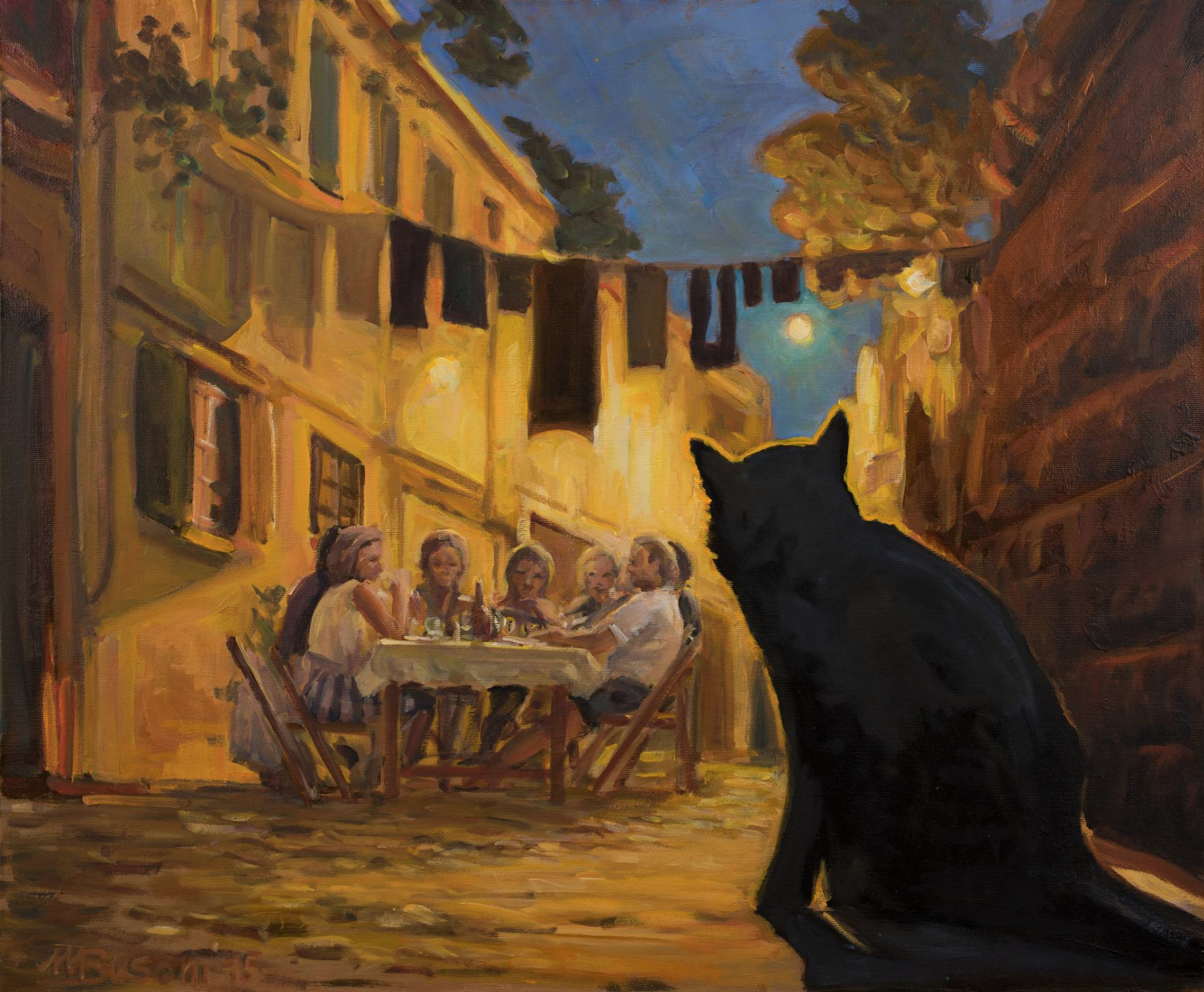 Black Hungry and Waiting for Leftovers by Marco Busoni.png